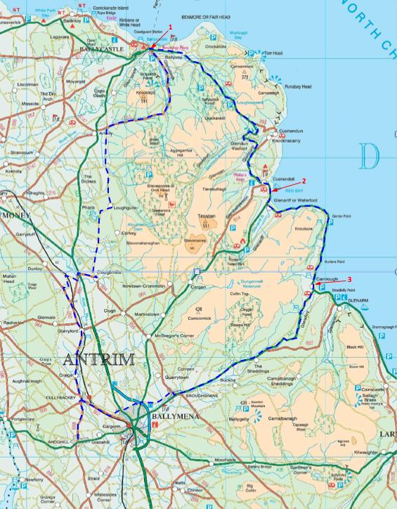 80 mile route